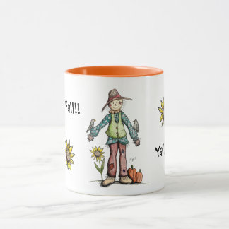Happy Fall Ya'll!  Scarecrow Mug