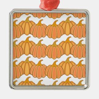 Happy fall y'all! Silver-Colored square ornament