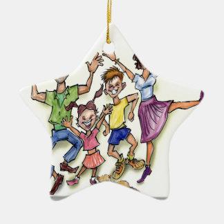 Happy Family Ceramic Star Ornament
