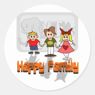 Happy Family Classic Round Sticker
