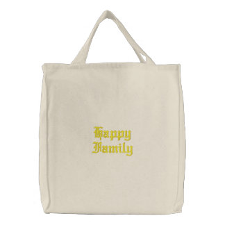 Happy Family Embroidered Bag