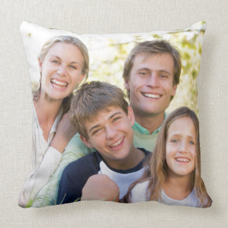 Happy Family Love and Smile Throw Pillow