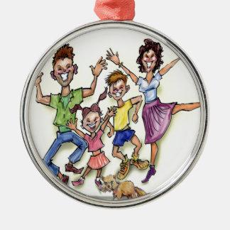 Happy Family Metal Ornament