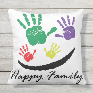 Happy Family Outdoor Pillow