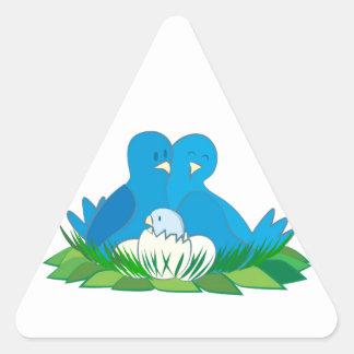 Happy Family Triangle Sticker