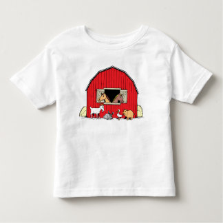 Happy Farm Barnyard Animals Toddlers T-Shirt