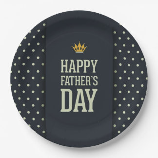 Happy Father Father's Day Party Paper Plates