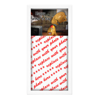 Happy Father s Day - Couch Potatoes Dad Asleep Customized Photo Card