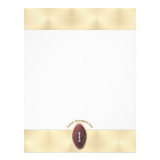 Happy Father s Day Football On Gold Background Full Color Flyer