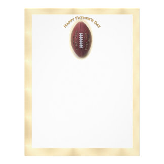 Happy Father s Day Football On Gold Background Personalized Flyer