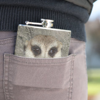 Happy Father's Day! Funny Meerkat 002.2 Hip Flask