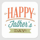 Happy Father's Day Square Sticker