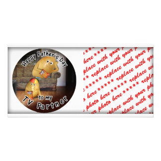 Happy Father s Day to my TV Partner -CouchPotatoes Photo Greeting Card