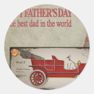 Happy-Fathers-Day #2 Classic Round Sticker
