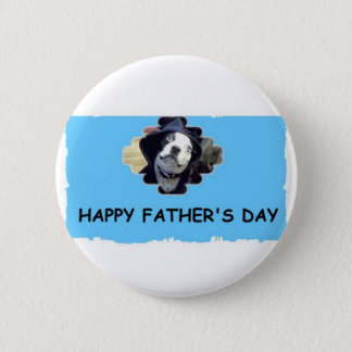 HAPPY FATHER'S DAY 2 INCH ROUND BUTTON