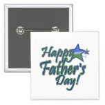 happy fathers Day 2 Inch Square Button