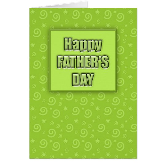 Happy Father's Day #2 (Lime) Card