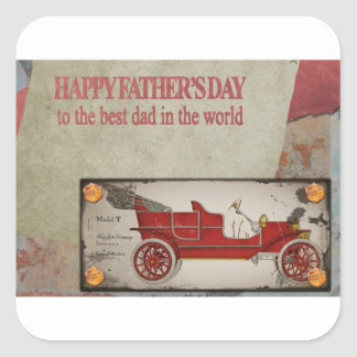 Happy-Fathers-Day #2 Square Sticker
