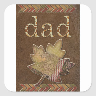 Happy-Fathers-Day #3 Square Sticker