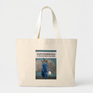 Happy-Fathers-Day #4 Large Tote Bag