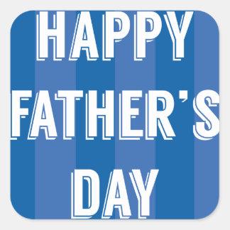 Happy-Fathers-Day #5 Square Sticker
