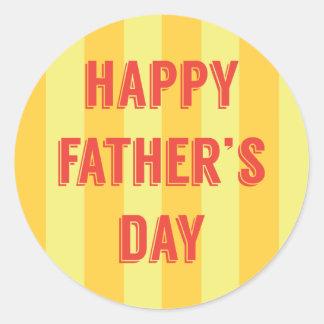 Happy-Fathers-Day #6 Classic Round Sticker