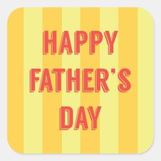 Happy-Fathers-Day #6 Square Sticker