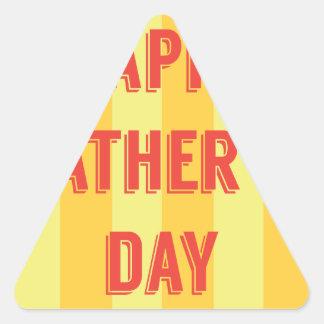 Happy-Fathers-Day #6 Triangle Sticker