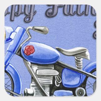 Happy-Fathers-Day #7 Square Sticker