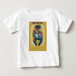 Happy Father's Day - Accordion Player Baby T-Shirt