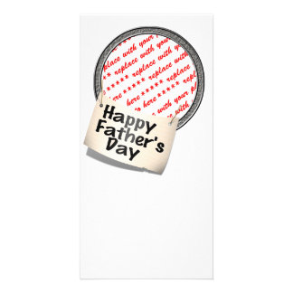Happy Father's Day Banner Frame Photo Greeting Card