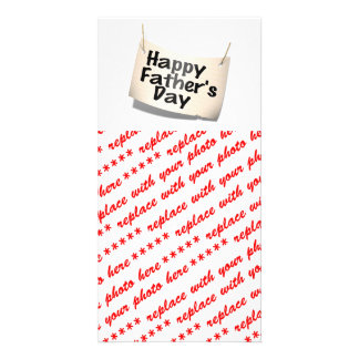 Happy Father's Day Banner (Text Design) Photo Cards