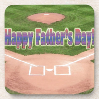 Happy Fathers Day Baseball Coasters