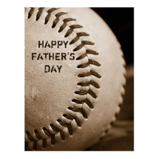 Happy Father's Day Baseball Postcard