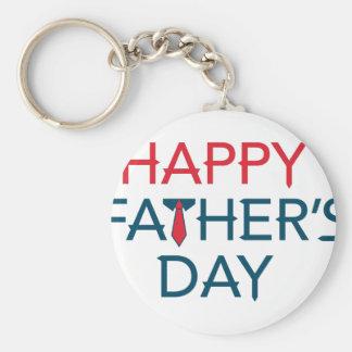 Happy Fathers Day Basic Round Button Keychain