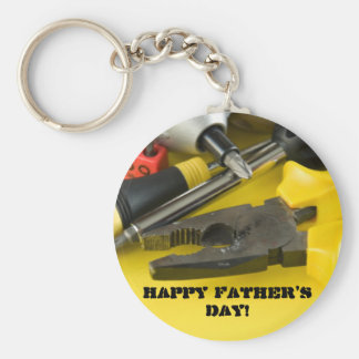 Happy Father's Day! Basic Round Button Keychain