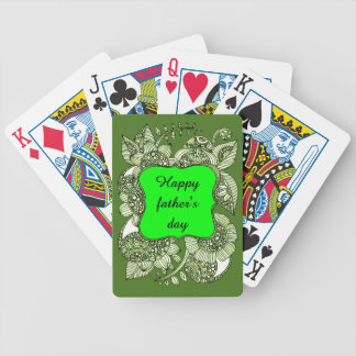 Happy Father's Day Bicycle Playing Cards