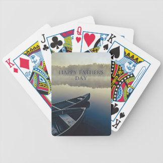 Happy Fathers Day Bicycle Playing Cards