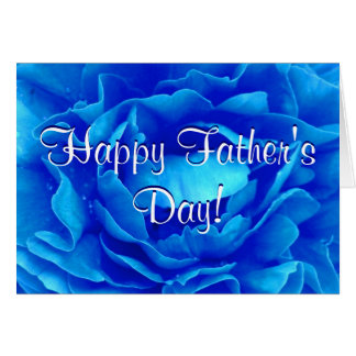 Happy Father's Day Blue Rose Greeting Card
