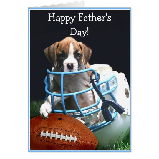 Happy Father's Day boxer puppy greeting card
