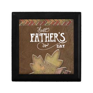 Happy Father's Day - Brown Leather Maple Leaf Gift Box