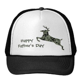 Happy Father's Day Camo Deer Trucker Hat