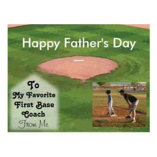 Happy Father's Day Card Baseball Theme Postcard