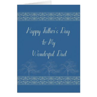 Happy Father's Day Card for Dad in Blue
