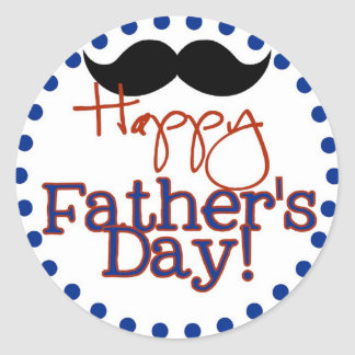 happy father's day classic round sticker