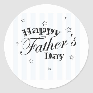 Happy Father's Day! Classic Round Sticker