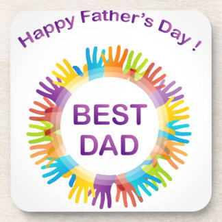 Happy fathers day coasters