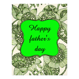Happy Father's Day Customized Letterhead