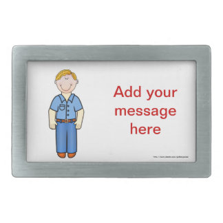 Happy Father's Day Dad Add your message Rectangular Belt Buckle