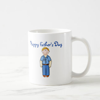 Happy Father's Day Dad with smiling father Coffee Mug